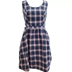 NWT Hot Topic Plaid Cutout Skater Dress D38